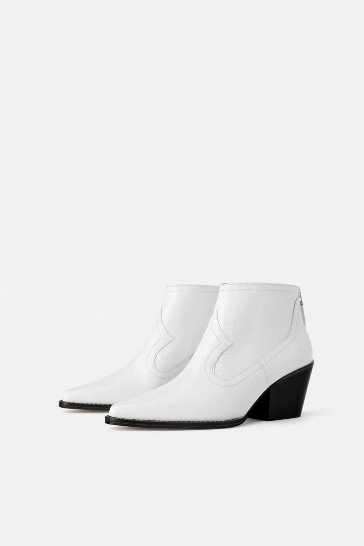 Белые ботинки Zara