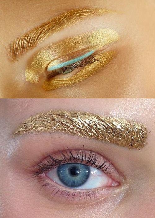 Образ с золотыми бровями на 8 марта