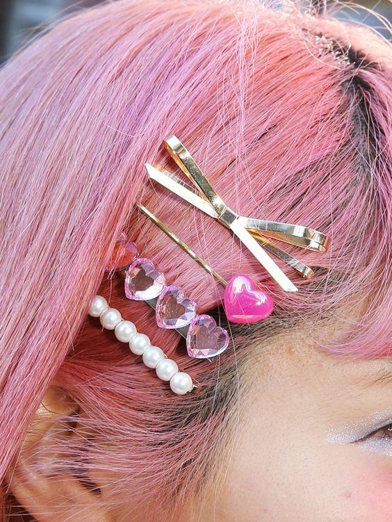 Украшения для волос с кристаллами из пластика