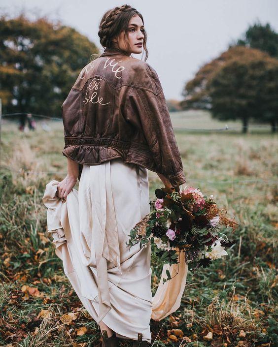Теплый бохо-образ для свадьбы