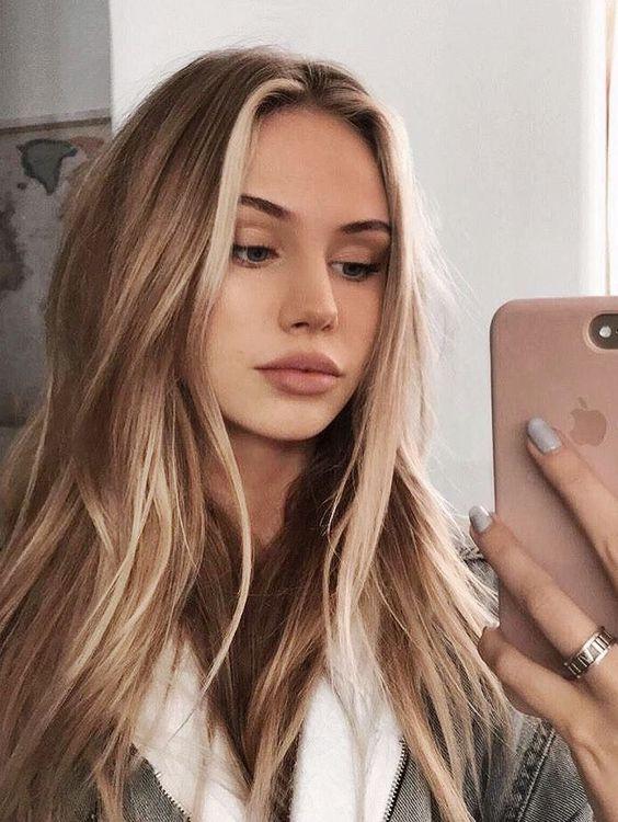 Красивое окрашивание на русые волосы