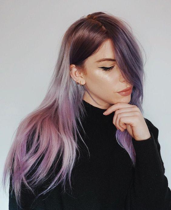 Сиреневые волосы фото