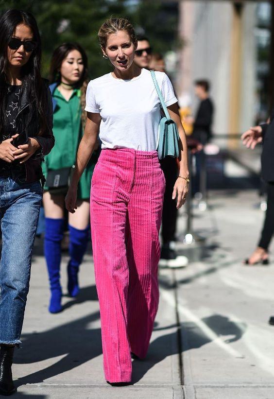 розовые вельветовые брюки