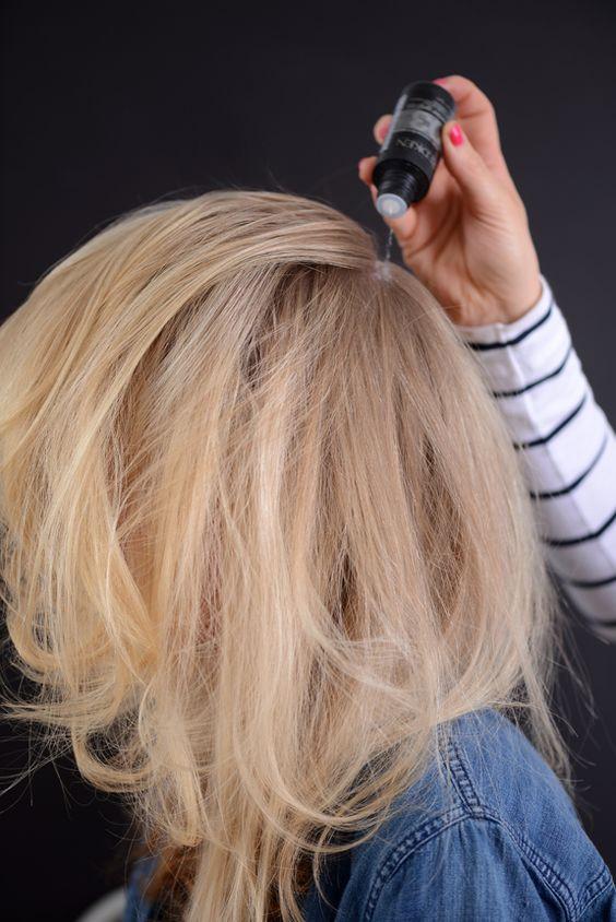 Создание объема при помощи пудры для объема волос