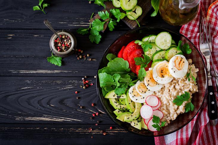 Салат с овсянкой для похудения