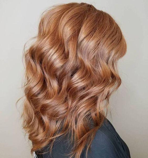 Окрашивание волос клубничный блонд