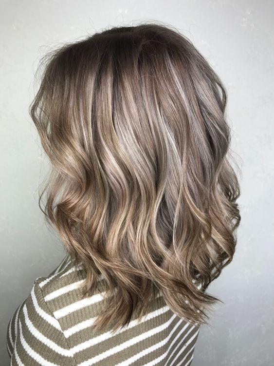 Пепельное окрашивание на русые волосы