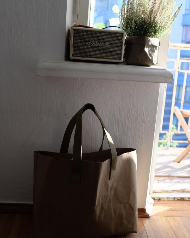 Бумажная эко-сумка