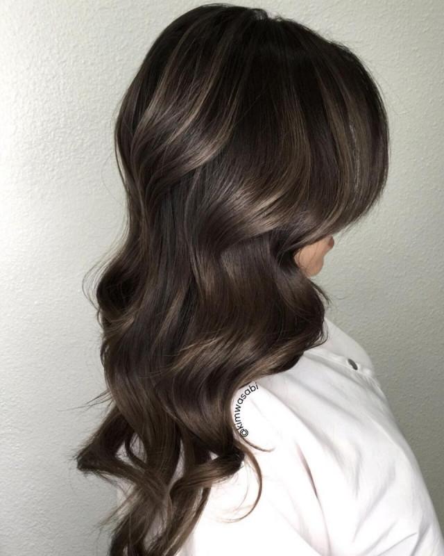 Серое окрашивание для темных волос
