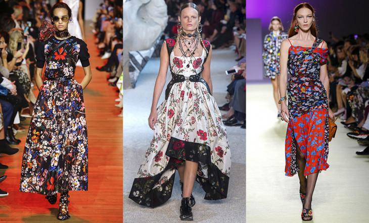 Цветочные мотивы в одежде