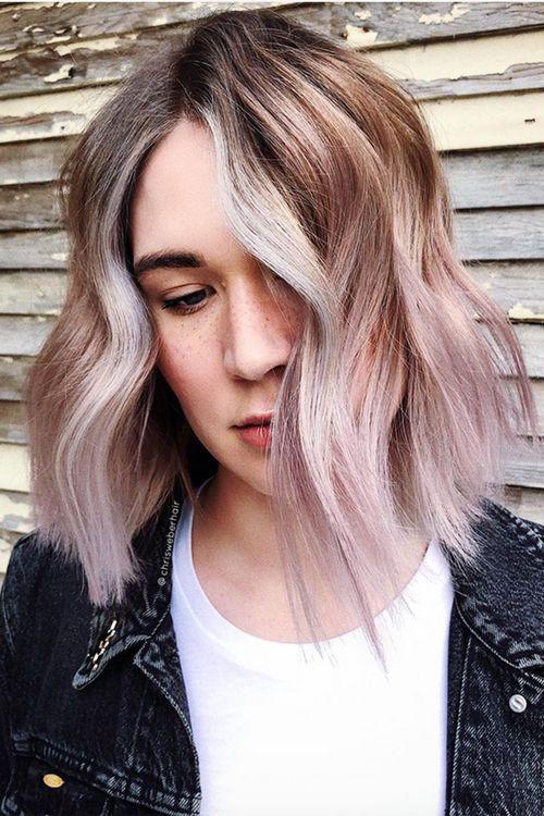 Ванильно-лиловый оттенок волос