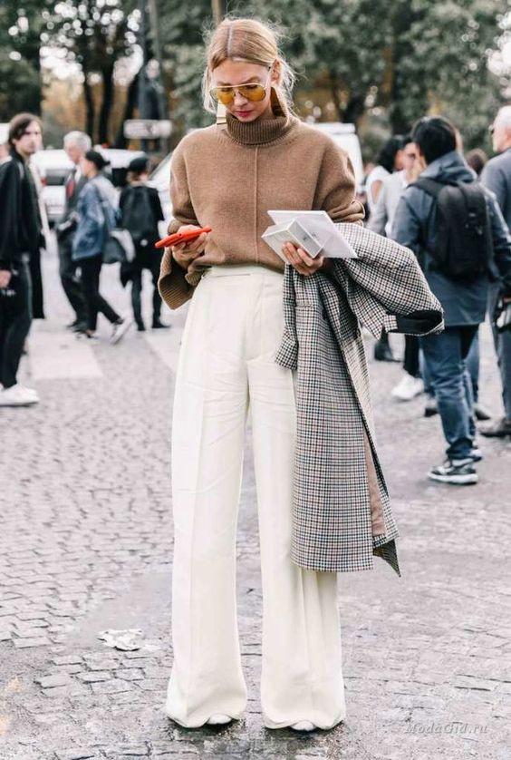 Модные образы брюки палаццо