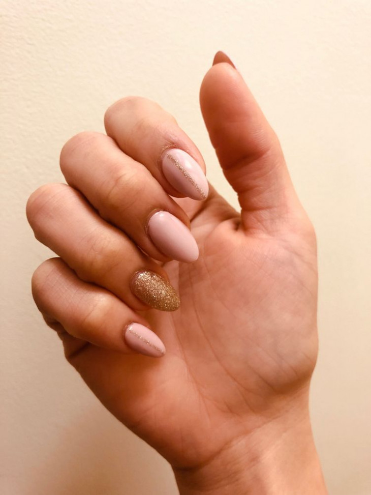 весенний маникюр на овальные ногти