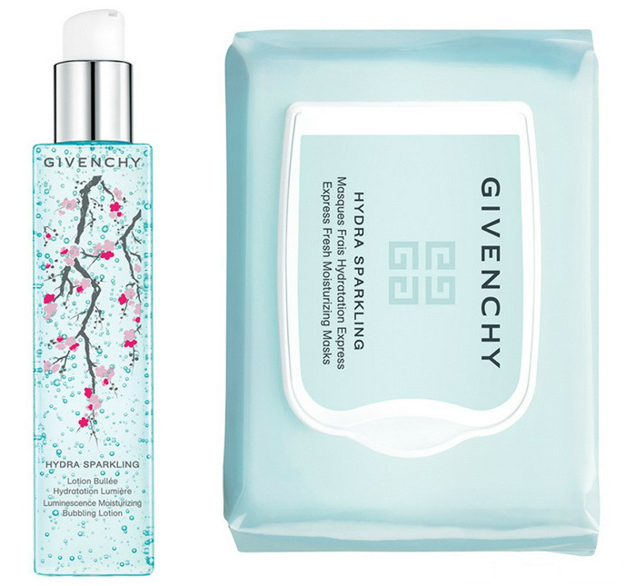 Givenchy Hydra Sparkling Lotion Sakura Edition and Hydra Sparkling Fresh Mask Spring 2019
