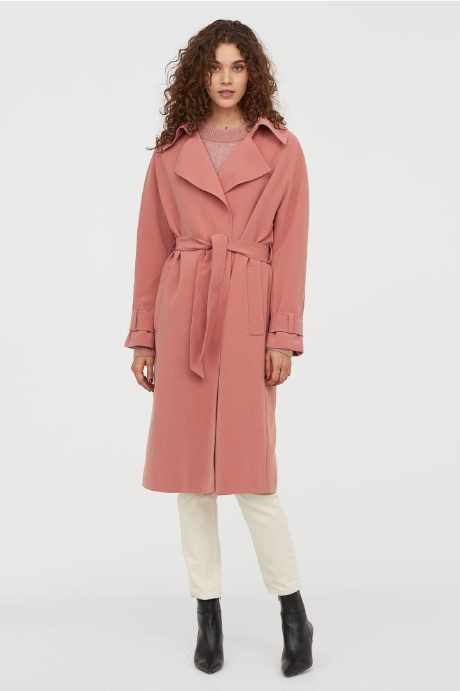 Розовый тренчкот H&M