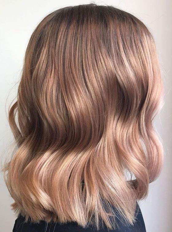 Окрашивание клубничный блонд