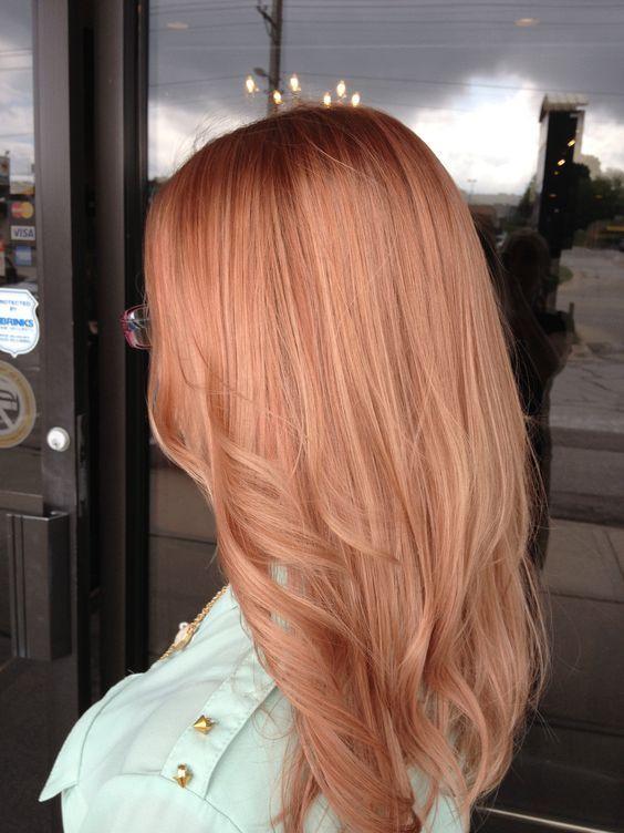 Оттенок волос розовое золото