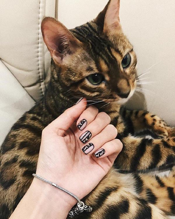Маникюр леопардовый