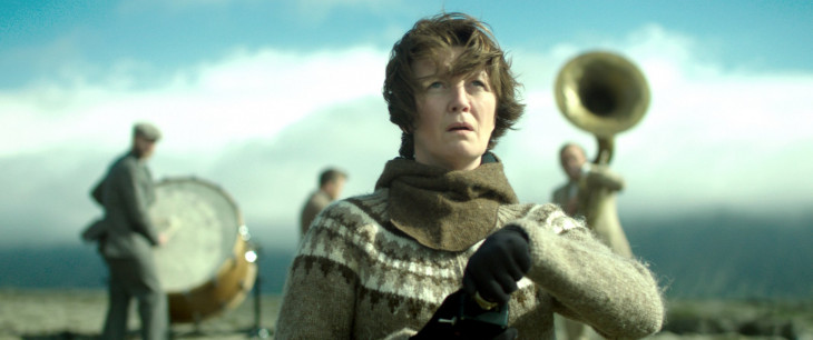 горная женщина на войне