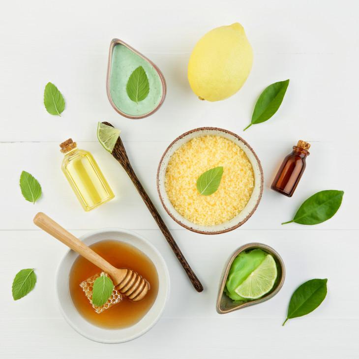 витамин е, мед, лимонный сок