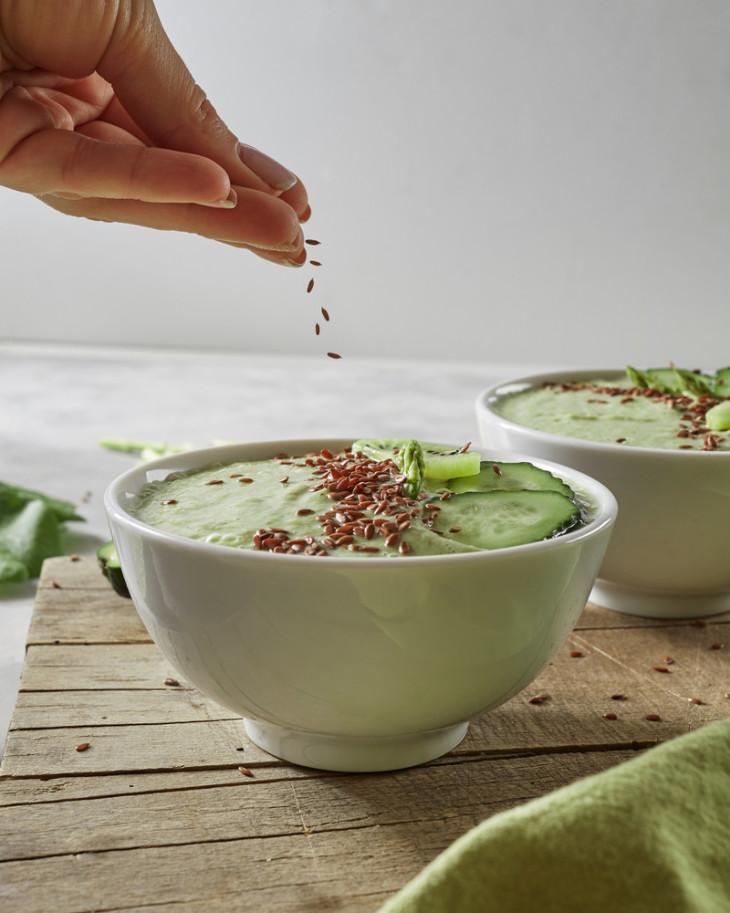 семена льна в салате