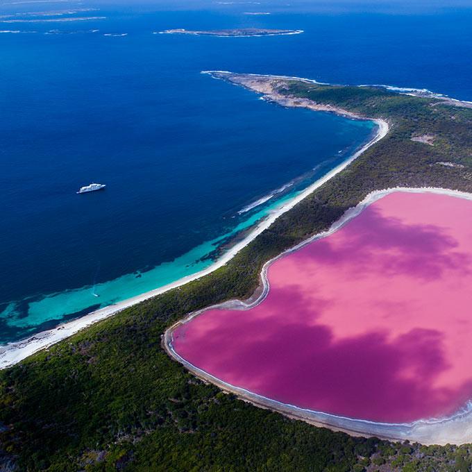 Розовое озеро, Юкатана, Мексика