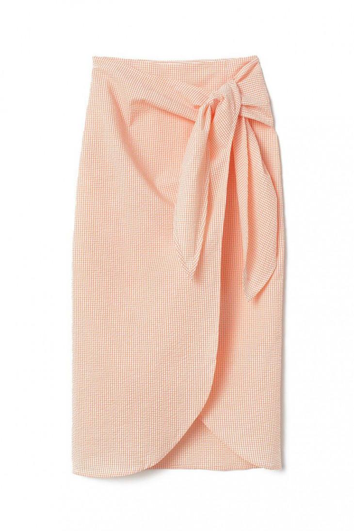 Коралловая юбка H&M