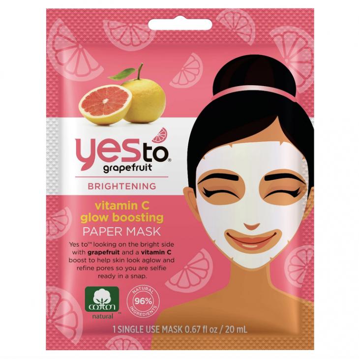 Yes To Grapefruit Single Use Paper Mask