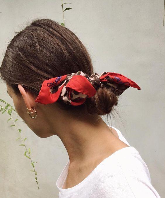 красный платок и пучок