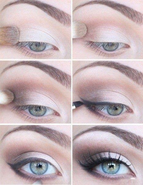 Нюдовые тени для аккуратного макияжа глаз под очки