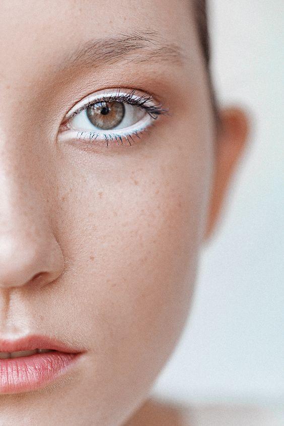 макияж с белым карандашом
