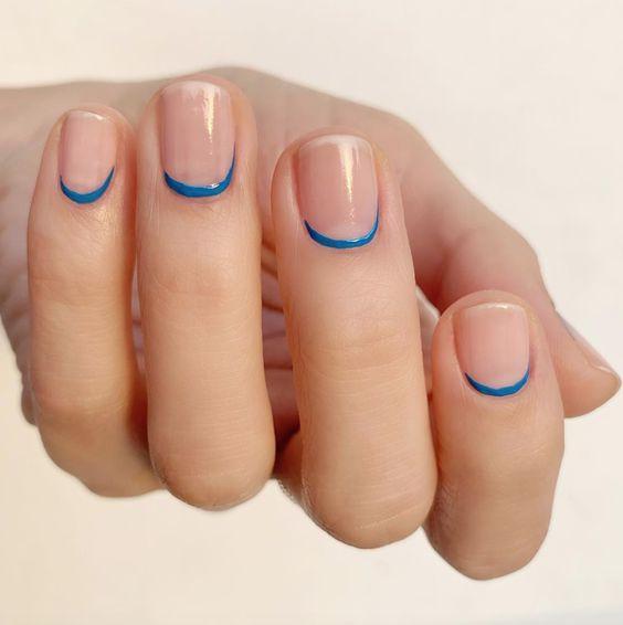 синий обратный френч