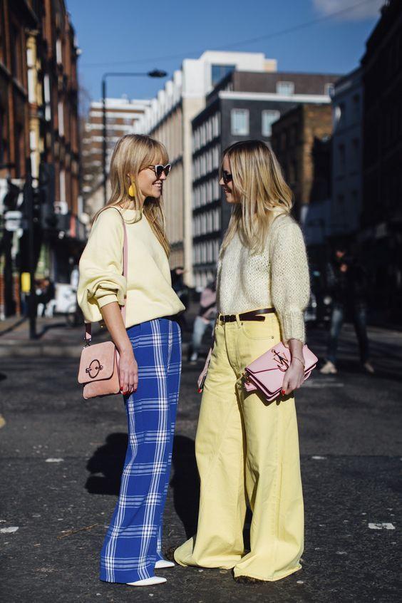 лимонные брюки