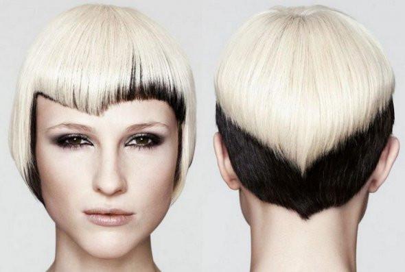 вуаль мелирование на короткие волосы