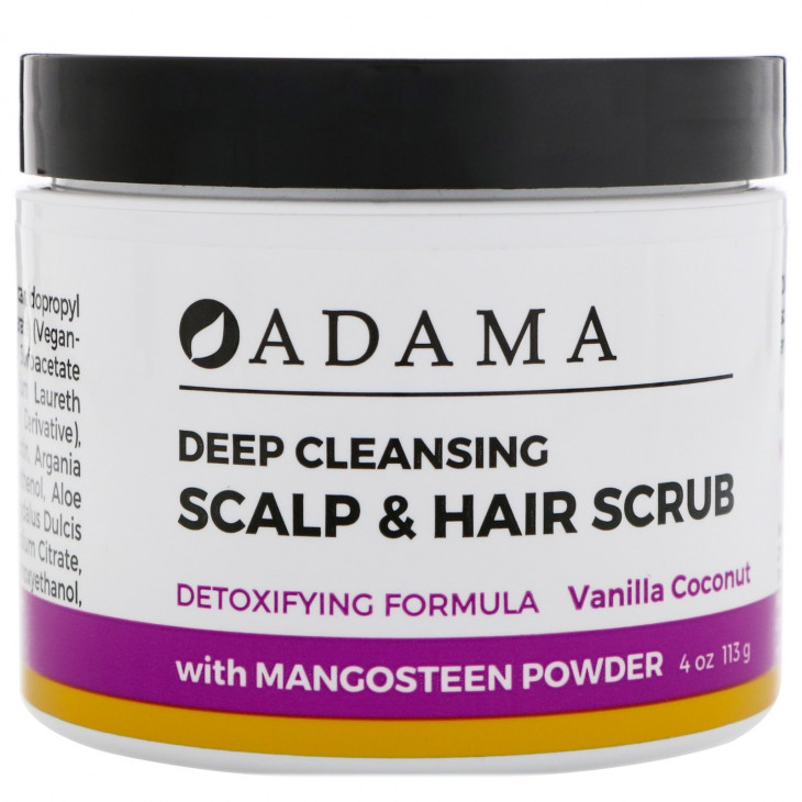 Глубоко очищающий скраб для волос и кожи головы Zion Health от Adama