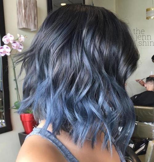 синее омбре