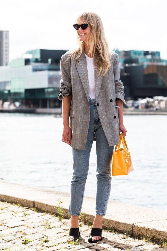 джинсы и пиджак