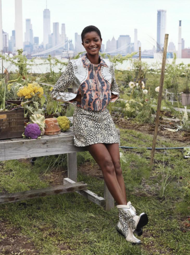 Коллекция Conscious Exclusive H&M юбка