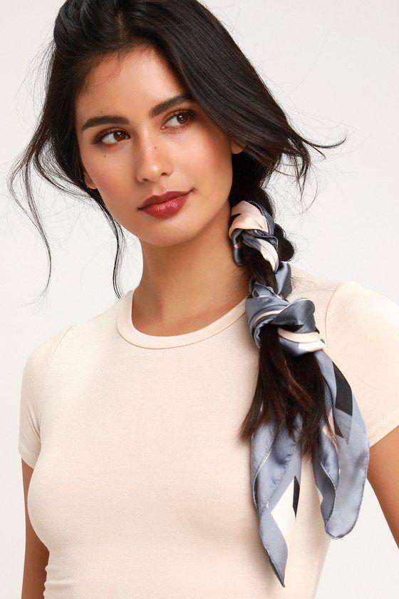 e96326b7a53d Аксессуары 2019: летние шарфы и платки для волос от известных брендов