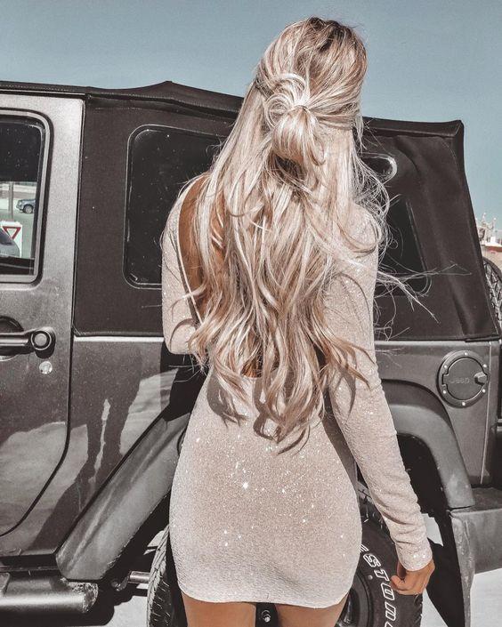 Окрашивание пепельный блонд