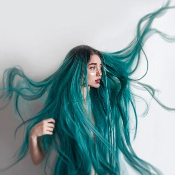 Разноцветное окрашивание 2019 на длинные волосы
