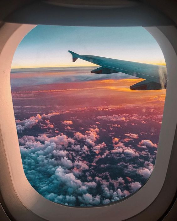 вид из самолета