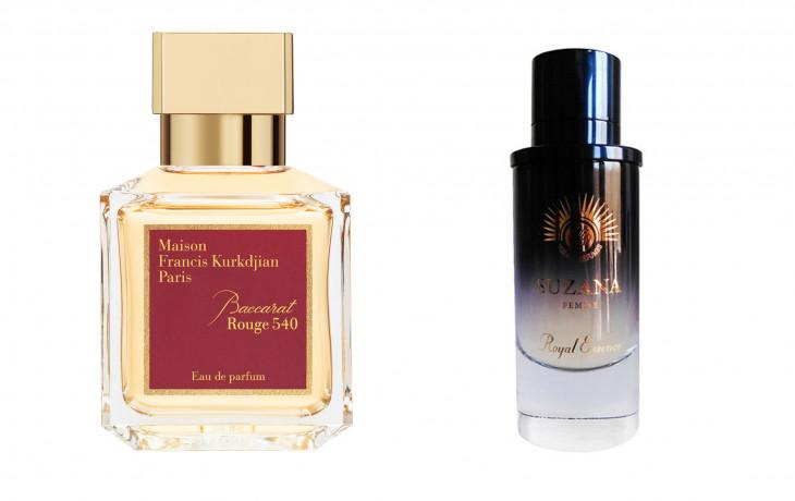 Maison Francis Kurkdjian Baccarat Rouge 540 и Noran Perfumes Suzana