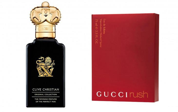 Clive Christian X Pure и Gucci Rush