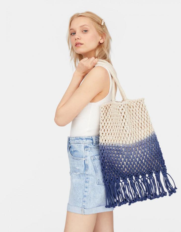 сумка от страдивариус плетенная