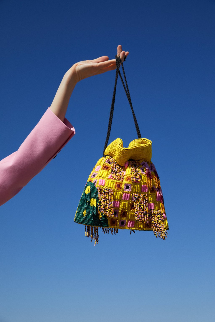 zara сумка с бисером
