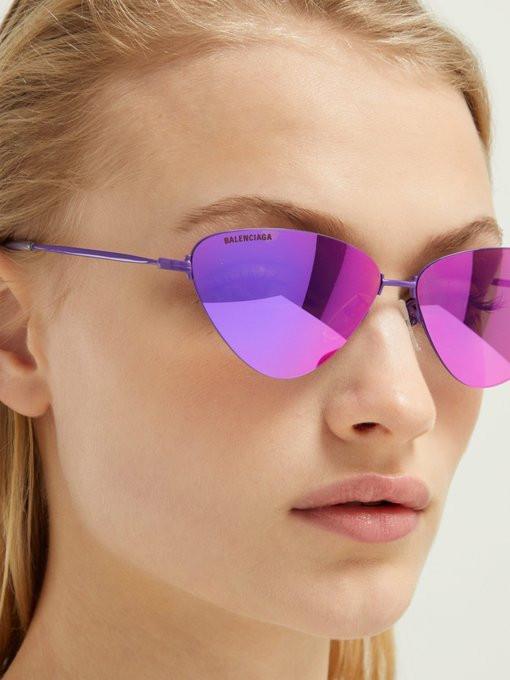 Солнцезащитные очки 2019 кошачий глаз Balenciaga
