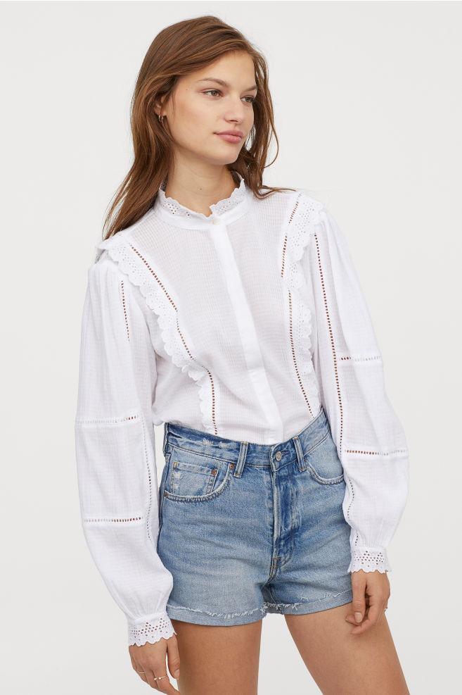 Джинсовые шорты mom H&M