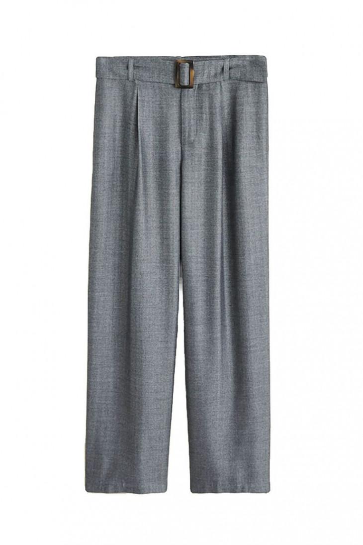Серые брюки в ёлочку