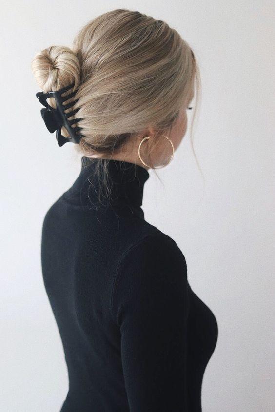 Прическа с зажимом для волос